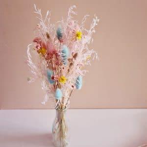 Bouquet fleurs séchées pastel