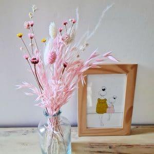 La fleur séchée en bouquet