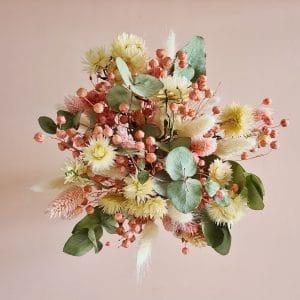 Achat bouquet fleurs séchées colorées