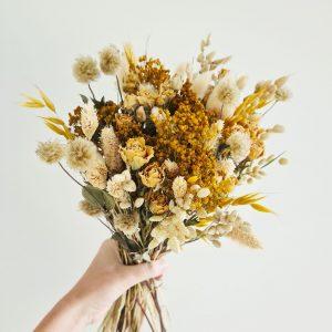 Bouquet fleurs séchées en livraison