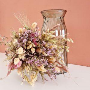 Fleurs séchées bouquet coloré