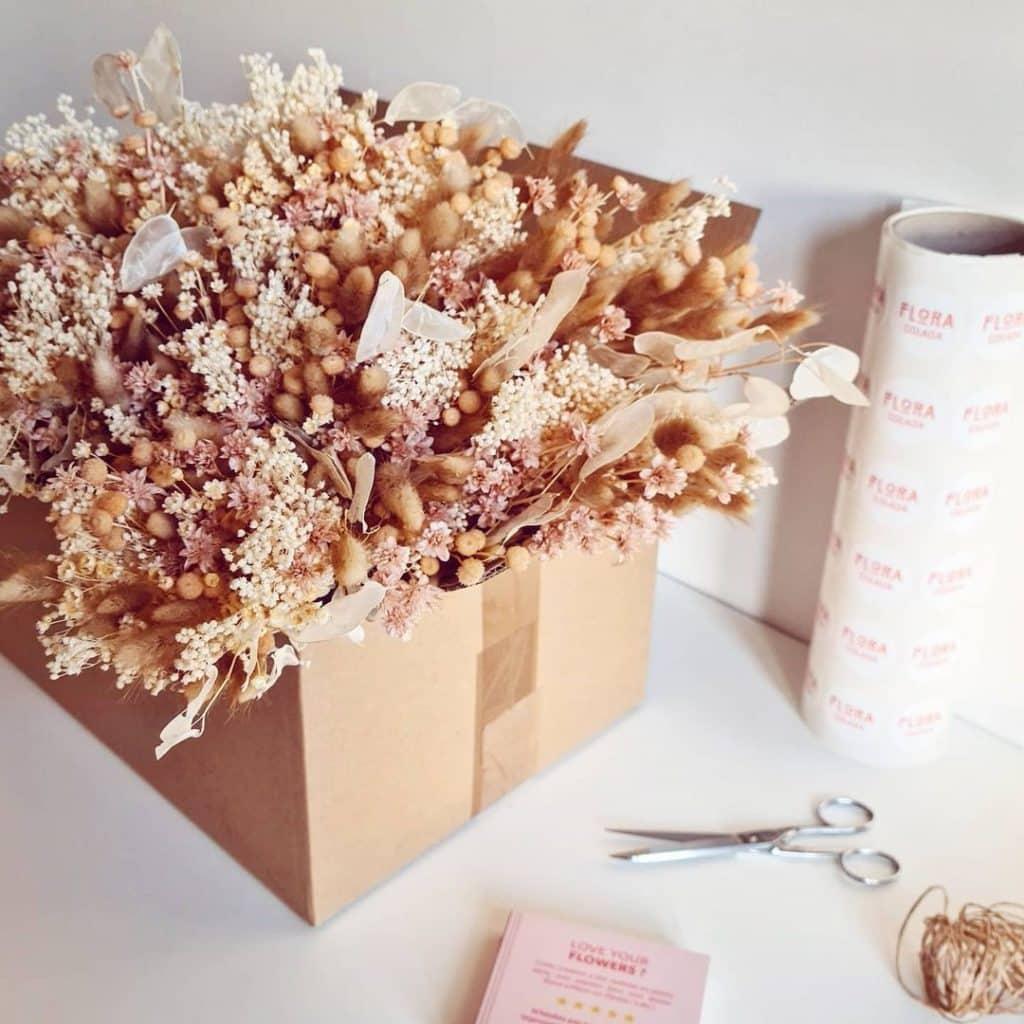 Livraison de petits bouquets de fleurs séchées